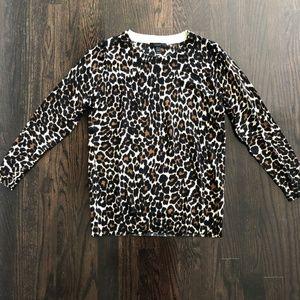 J Crew Cheetah Print Sweater